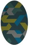 rug #1141471   oval green abstract rug
