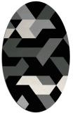 rug #1141487 | oval black geometry rug