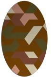 rug #1141491 | oval brown retro rug
