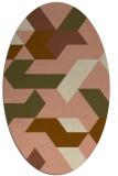 rug #1141494 | oval retro rug