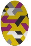 rug #1141534 | oval abstract rug