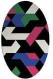 rug #1141543 | oval black retro rug