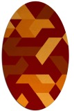 rug #1141551 | oval red-orange graphic rug