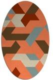 rug #1141560 | oval abstract rug