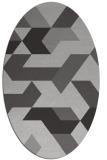 rug #1141563 | oval orange geometry rug