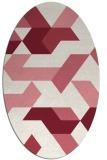 rug #1141571   oval pink abstract rug