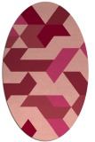 rug #1141575   oval pink retro rug