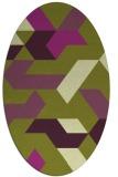 rug #1141587 | oval purple graphic rug