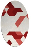 rug #1141607   oval red retro rug