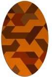 rug #1141615 | oval red-orange abstract rug