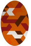 rug #1141627 | oval red-orange abstract rug