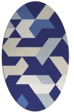 rug #1141639 | oval white geometry rug