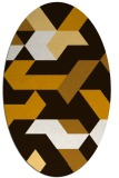 rug #1141643 | oval brown graphic rug