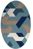 rug #1141651 | oval white abstract rug