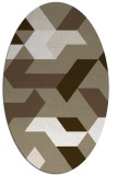 rug #1141655 | oval white geometry rug