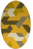 rug #1141659 | oval yellow rug