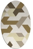 rug #1141663 | oval white geometry rug