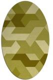 rug #1141679   oval light-green abstract rug