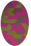 rug #1141687 | oval light-green rug
