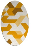 rug #1141695 | oval light-orange abstract rug