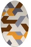 rug #1141707 | oval white geometry rug
