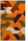 rug #1141711 |  orange retro rug