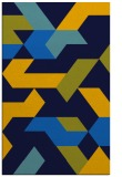 rug #1141743 |  blue graphic rug