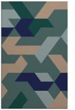 rug #1141751 |  blue-green retro rug