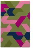 rug #1141755    green retro rug