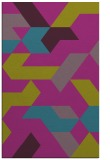 rug #1141791 |  blue-green graphic rug