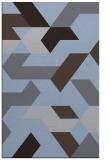 rug #1141819    blue-violet abstract rug
