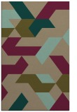 rug #1141823 |  mid-brown graphic rug