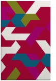 rug #1141831 |  blue-green graphic rug