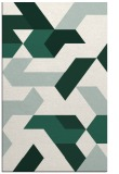 rug #1141843 |  green graphic rug