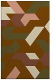 rug #1141859 |  mid-brown retro rug