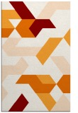 rug #1141923 |  orange graphic rug