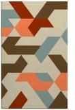 rug #1141927 |  orange abstract rug