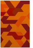 rug #1141971 |  orange retro rug