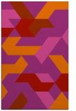 rug #1141979 |  red retro rug