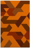 rug #1141983 |  red-orange graphic rug
