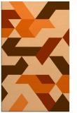 rug #1141987 |  red-orange retro rug