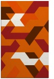rug #1141995    red-orange graphic rug