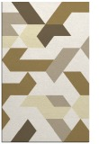 rug #1142031 |  yellow retro rug