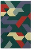 rug #1142043 |  blue-green retro rug