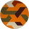rug #1142079 | round beige retro rug