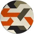 rug #1142103 | round retro rug
