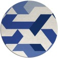 rug #1142127 | round blue abstract rug