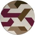 rug #1142235 | round beige rug