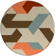 rug #1142295 | round orange retro rug