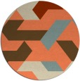 rug #1142296 | round abstract rug